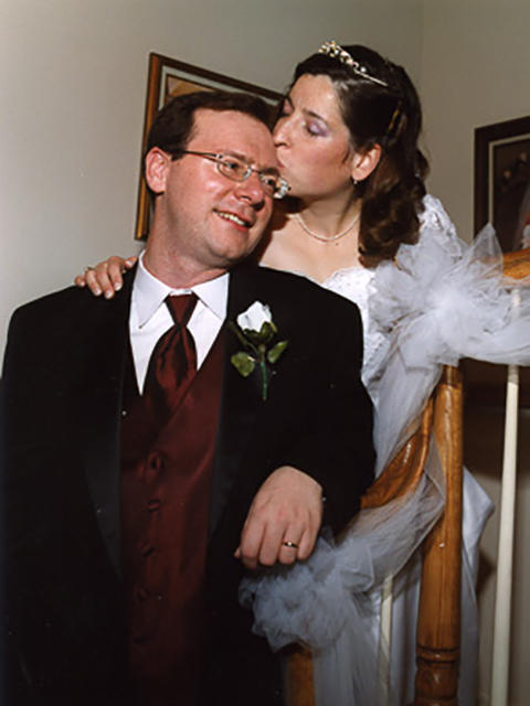 Ted and Dawn's wedding.