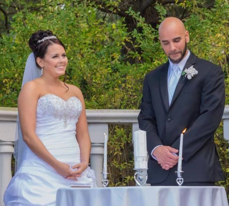 Megan John Our Story (wedding pic)